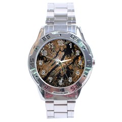 Night View Stainless Steel Analogue Watch