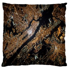Night View Large Flano Cushion Case (two Sides)