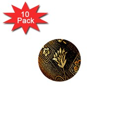 Orange Paper Patterns For Scrapbooking 1  Mini Buttons (10 Pack)