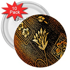 Orange Paper Patterns For Scrapbooking 3  Buttons (10 pack)