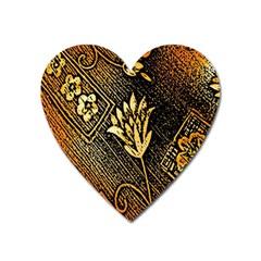 Orange Paper Patterns For Scrapbooking Heart Magnet