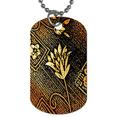 Orange Paper Patterns For Scrapbooking Dog Tag (one Side)