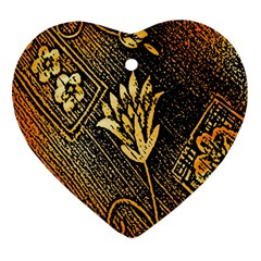 Orange Paper Patterns For Scrapbooking Heart Ornament (Two Sides)