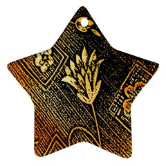 Orange Paper Patterns For Scrapbooking Star Ornament (Two Sides)