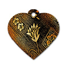 Orange Paper Patterns For Scrapbooking Dog Tag Heart (Two Sides)
