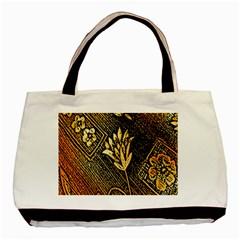 Orange Paper Patterns For Scrapbooking Basic Tote Bag (Two Sides)