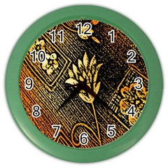 Orange Paper Patterns For Scrapbooking Color Wall Clocks