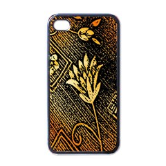 Orange Paper Patterns For Scrapbooking Apple iPhone 4 Case (Black)