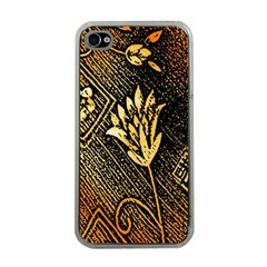 Orange Paper Patterns For Scrapbooking Apple iPhone 4 Case (Clear)
