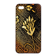 Orange Paper Patterns For Scrapbooking Apple iPhone 4/4s Seamless Case (Black)