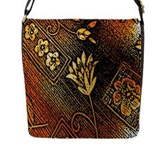 Orange Paper Patterns For Scrapbooking Flap Messenger Bag (l)