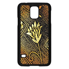 Orange Paper Patterns For Scrapbooking Samsung Galaxy S5 Case (Black)