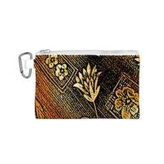 Orange Paper Patterns For Scrapbooking Canvas Cosmetic Bag (S)