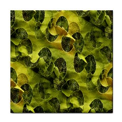 Olive Seamless Camouflage Pattern Tile Coasters