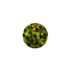 Olive Seamless Camouflage Pattern 1  Mini Buttons