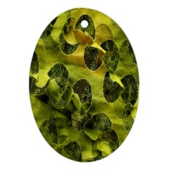 Olive Seamless Camouflage Pattern Ornament (oval)