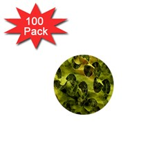 Olive Seamless Camouflage Pattern 1  Mini Buttons (100 pack)