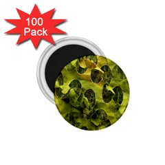 Olive Seamless Camouflage Pattern 1.75  Magnets (100 pack)