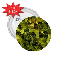 Olive Seamless Camouflage Pattern 2.25  Buttons (10 pack)