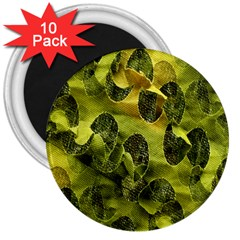 Olive Seamless Camouflage Pattern 3  Magnets (10 pack)