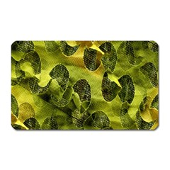 Olive Seamless Camouflage Pattern Magnet (Rectangular)