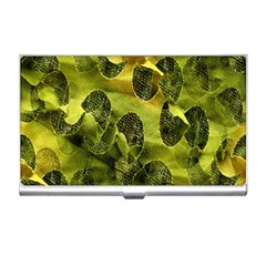 Olive Seamless Camouflage Pattern Business Card Holders