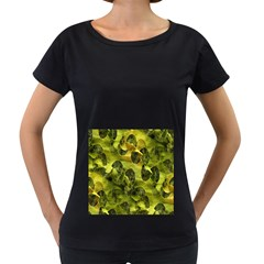Olive Seamless Camouflage Pattern Women s Loose Fit T Shirt (black)
