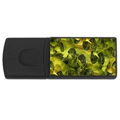 Olive Seamless Camouflage Pattern USB Flash Drive Rectangular (4 GB)