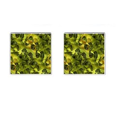 Olive Seamless Camouflage Pattern Cufflinks (Square)
