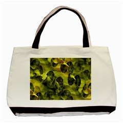 Olive Seamless Camouflage Pattern Basic Tote Bag