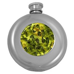 Olive Seamless Camouflage Pattern Round Hip Flask (5 Oz)