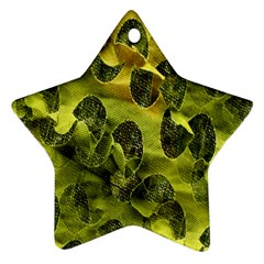 Olive Seamless Camouflage Pattern Star Ornament (Two Sides)