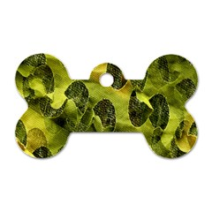 Olive Seamless Camouflage Pattern Dog Tag Bone (Two Sides)