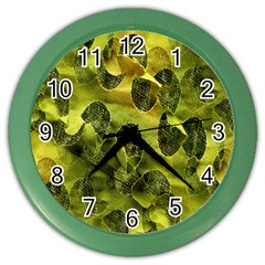Olive Seamless Camouflage Pattern Color Wall Clocks