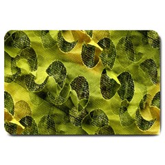 Olive Seamless Camouflage Pattern Large Doormat