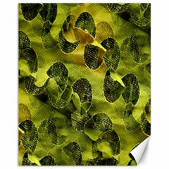 Olive Seamless Camouflage Pattern Canvas 11  x 14