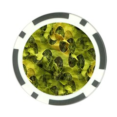 Olive Seamless Camouflage Pattern Poker Chip Card Guard