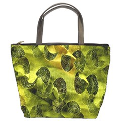 Olive Seamless Camouflage Pattern Bucket Bags