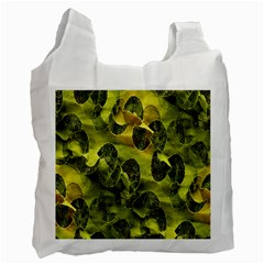 Olive Seamless Camouflage Pattern Recycle Bag (one Side)