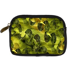 Olive Seamless Camouflage Pattern Digital Camera Cases