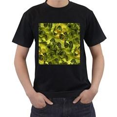 Olive Seamless Camouflage Pattern Men s T-Shirt (Black)