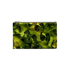 Olive Seamless Camouflage Pattern Cosmetic Bag (Small)