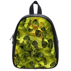 Olive Seamless Camouflage Pattern School Bags (small)