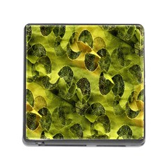 Olive Seamless Camouflage Pattern Memory Card Reader (Square)