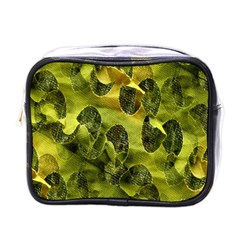 Olive Seamless Camouflage Pattern Mini Toiletries Bags