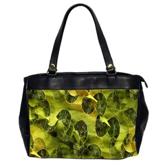 Olive Seamless Camouflage Pattern Office Handbags (2 Sides)