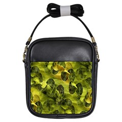 Olive Seamless Camouflage Pattern Girls Sling Bags