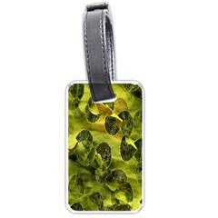 Olive Seamless Camouflage Pattern Luggage Tags (one Side)
