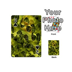 Olive Seamless Camouflage Pattern Playing Cards 54 (mini)