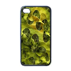 Olive Seamless Camouflage Pattern Apple iPhone 4 Case (Black)
